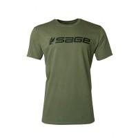 Sage Logo Tee Dark Green