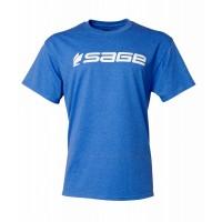 Sage Logo Tee Heather Blue