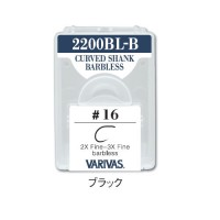 Varivas 2200 BL-B Fly Hooks - Curved Shank Barbless